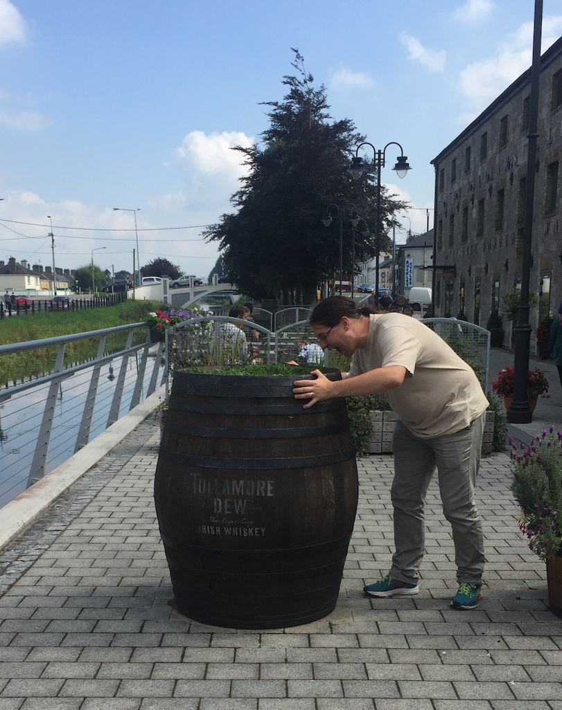 Lennart drinking his whiskey right out of the barrel