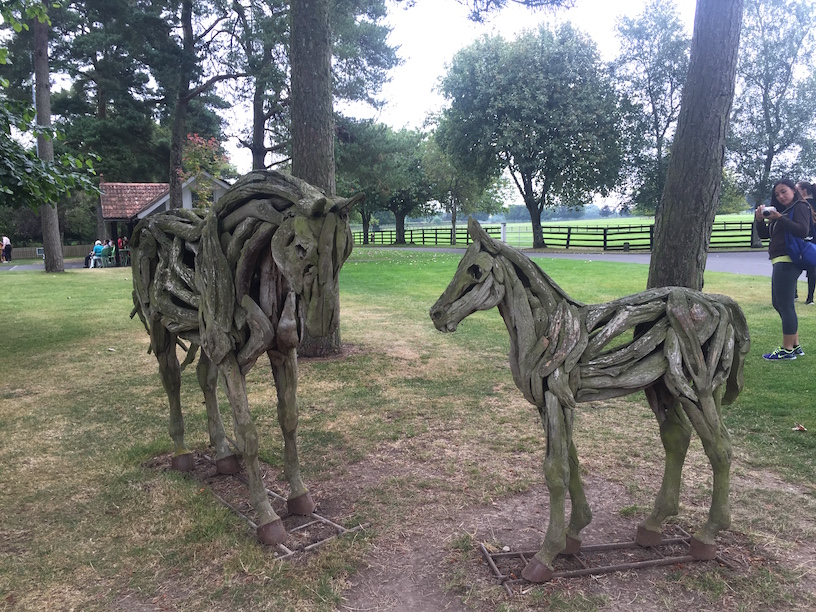 Irish National Stud tree statues